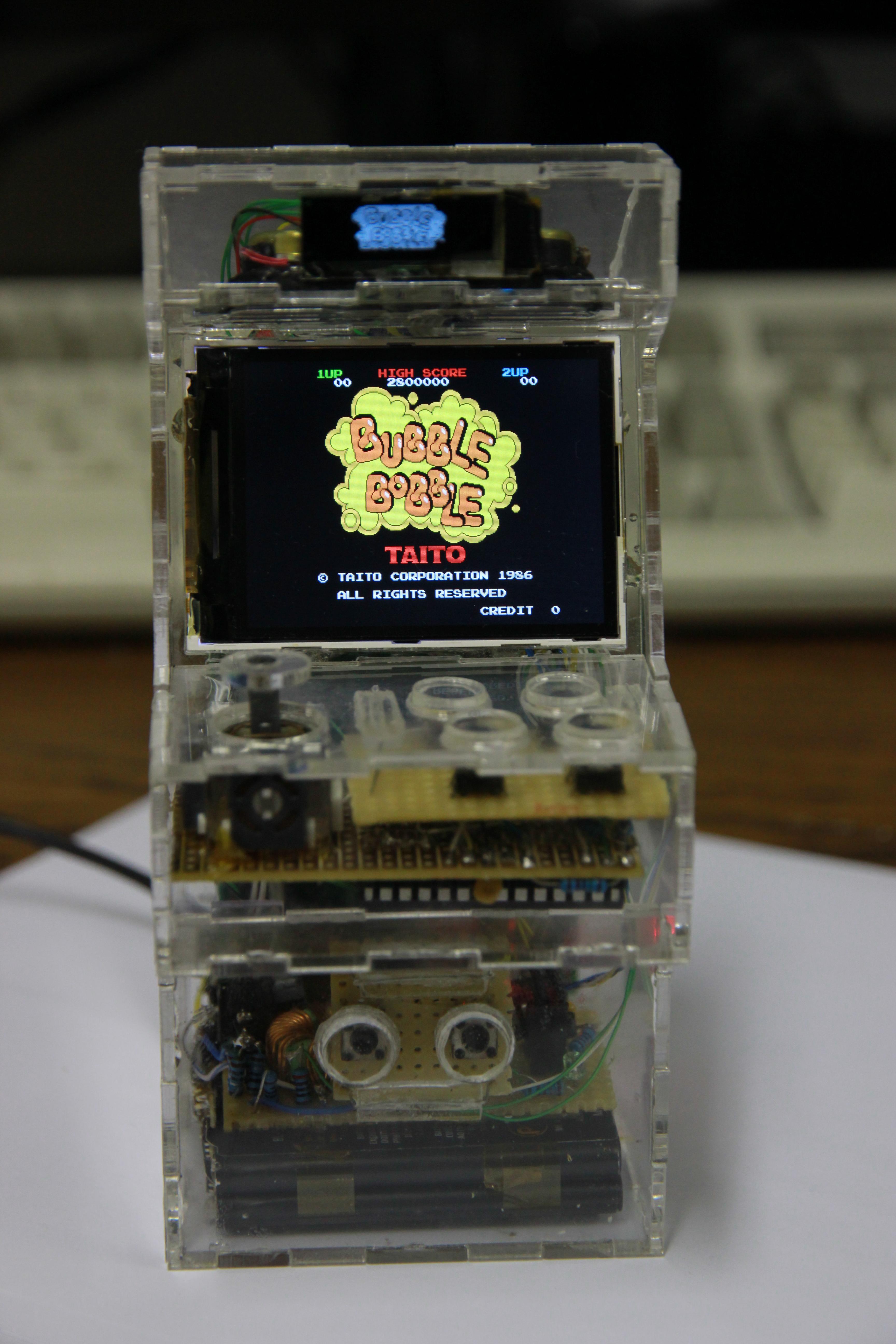 Raspberry Pi Game Cabinet Sprites Mods Raspberry Pi Micro Arcade Machine End Result
